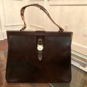 Hanover Watch Genuine Leather Vintage Purse